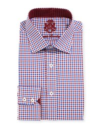 English Laundry Gingham Cotton Dress Shirt Red