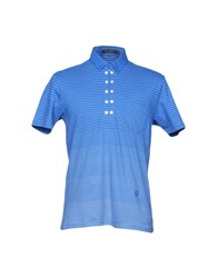 Full Circle Polo Shirts Bright Blue