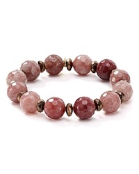 Bourbon And Boweties Stretch Bracelet Pink