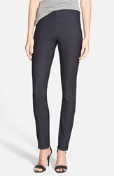 Petite Women's Nydj 'Poppy' Pull On Stretch Denim Leggings Dark Enzyme