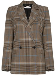 Givenchy Double Breasted Check Jacket Brown