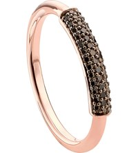 Monica Vinader Stellar 18Ct Rose Gold Plated Vermeil And Champagne Diamond Ring