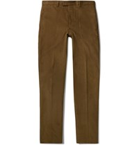 Officine Generale Brown Cotton Corduroy Suit Trousers Brown