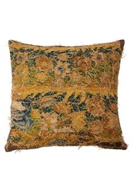 By Walid 17Th Century Tapestry Cushion Brown Multi