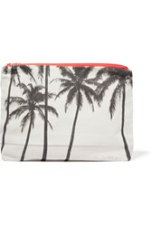 Samudra Lost In Paradise Printed Cotton Canvas Pouch Light Gray