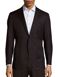 Saks Fifth Avenue Made In Italy Solid Woolen Jacket Navy