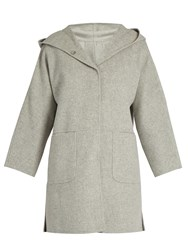 Max Mara Domino Reversible Coat Light Grey