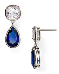 Carolee Uptown Girl Double Drop Earrings Blue