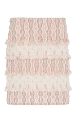 Tabula Rasa Mokao Layered Fringe Mini Skirt Pink