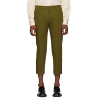 Ami Alexandre Mattiussi Green Cropped Trousers