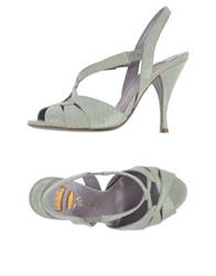 Ernesto Esposito High Heeled Sandals Dove Grey