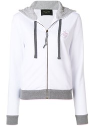 Mr And Mrs Italy Contrast Trim Hoodie White