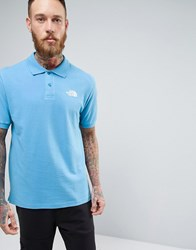 The North Face Pique Polo In Blue Blue