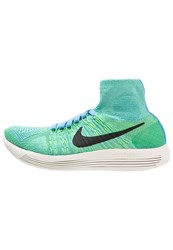 Nike Performance Lunarepic Flyknit Neutral Running Shoes University Blue Black Voltage Green Sail