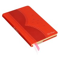 Ted Baker Deep Orange Brogue Notebook Medium