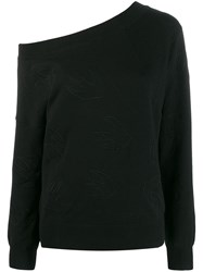 Mcq By Alexander Mcqueen Swallow Logo Sweater Black