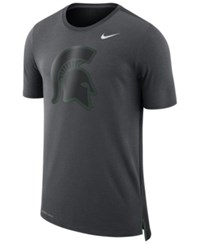 Nike Men's Michigan State Spartans Meshback Travel T Shirt Anthracite