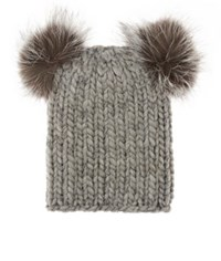 Eugenia Kim Women's Pom Pom Beanie Light Grey