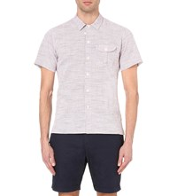 Oliver Spencer Calvert Regular Fit Cotton Shirt Thorn Red