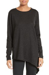 Ted Baker Women's London Vangeli Sparkle Knit Asymmetrical Hem Tee