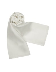 Forzieri Solid Silk Scarf White