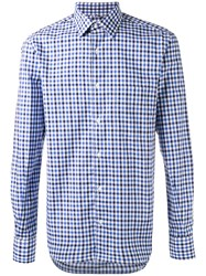 Aspesi Checked Shirt Blue