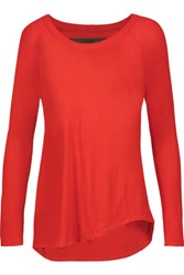 Enza Costa Stretch Jersey Top Red