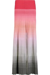 Missoni Degrade Crochet Knit Maxi Skirt Multi