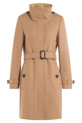 Burberry London Wool Blend Coat With Cashmere Camel