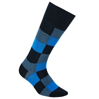 Boss Logo Boss Colour Block Cotton Rich Socks Blue