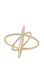 Ef Collection Diamond Cage Ring Yellow Gold Clear