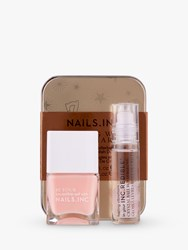 Nails Inc Rolling With My Charm Crystal Infused Rollerball Gloss And Nail Polish Duo