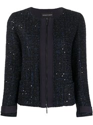 Emporio Armani Glitter Tweed Zip Jacket 60