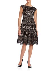 Eliza J Lace Fit And Flare Dress Black