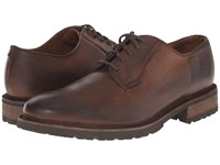 Frye James Lug Oxford Dark Brown Smooth Full Grain Men's Lace Up Casual Shoes