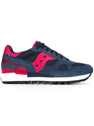 Saucony Panelled Low Top Sneakers Blue