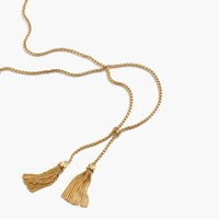 J.Crew Tassel Chain Necklace Gold