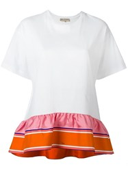 Emilio Pucci Ruffled Hem Oversized T Shirt White