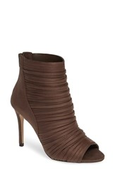 Bcbgmaxazria Bcbg Elle Open Toe Bootie Putty Fabric