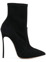 Casadei Blade Ankle Boots Black