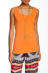 Green Dragon Draped Back Jersey Tank Orange