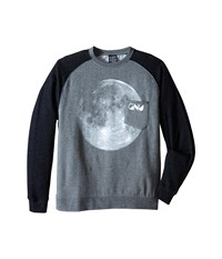 Gnu Forest Moon Crew Sweater Heather Charcoal Men's Sweater Gray