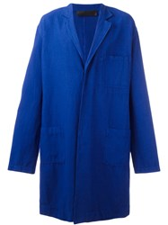 Haider Ackermann Soft Trench Coat Blue