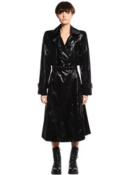 Gareth Pugh Belted Patent Leather Trench Coat