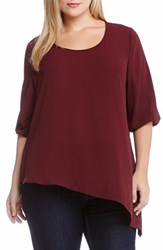 Plus Size Women's Karen Kane Asymmetrical Hem Top