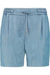 Karl Lagerfeld Maria Tencel Shorts Blue