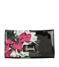 Harrods Abstract Floral Long Wallet Black