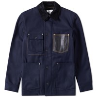 Coach Indigo Barn Wool Jacket Blue