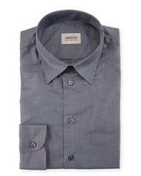 Armani Collezioni Mini Box Check Cotton Sport Shirt Red