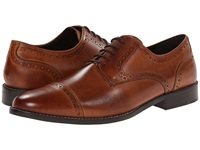 Nunn Bush Norcross Cognac Men's Lace Up Cap Toe Shoes Tan